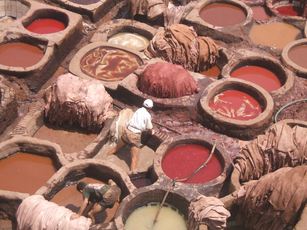 Leather Souk in Fez, Morocco