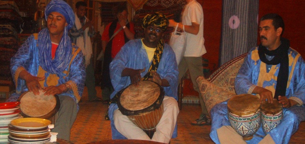 Visiting Moroccan drummers.