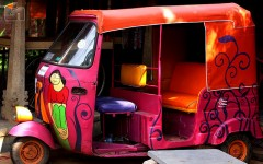 colourful rickshaw