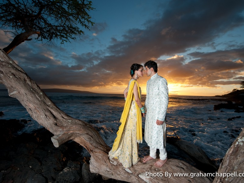 Wedding of Amy & Navi Dherari in Maui. Photo by Graham Chappell Photography: www.grahamchappell.com