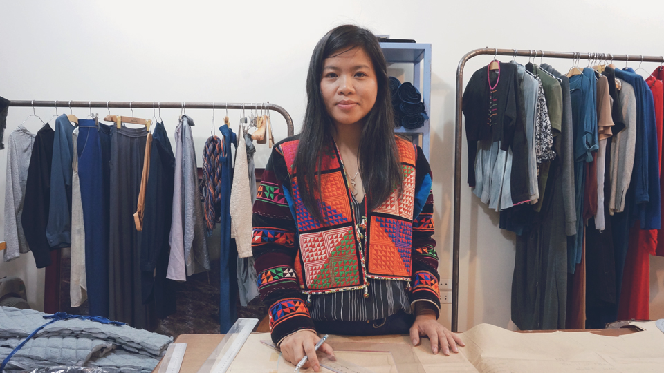 Vu Thao - textile artist and clothing designer from Vietnam who offers travellers a chance to learn natural indigo dyeing techniques in the mountains of Vietnam with local ethnic groups.