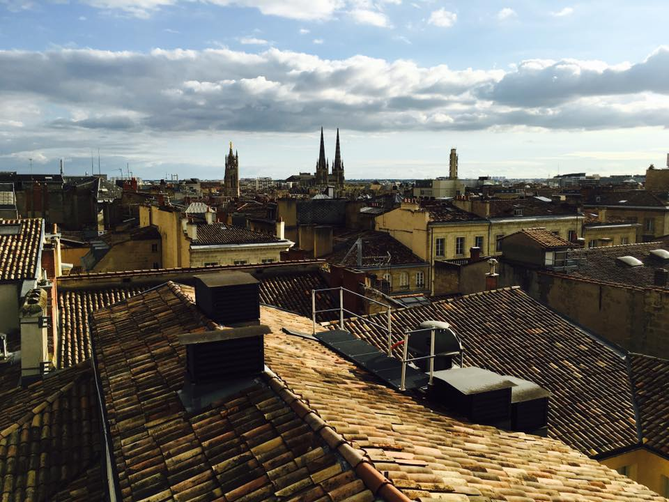 Rooftop views from the InterContinental Bordeaux hotel.