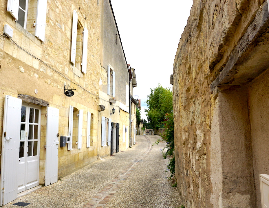 Where to Stay - Logis des Jurats is located on this quiet, cobbled lane and is only a short walk away to the main square. It's also steeped in history dating back to the 16th century.
