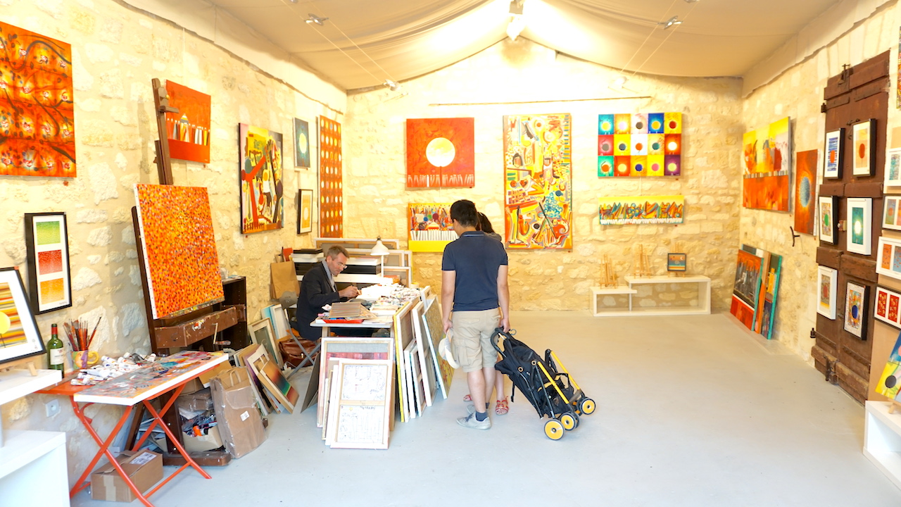 Visitors can drop in to see Emmanuel in his studio.