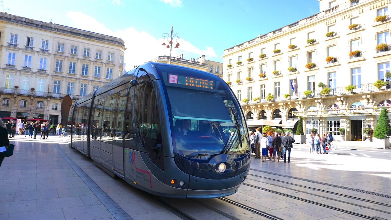 New tramways help move people around the city.