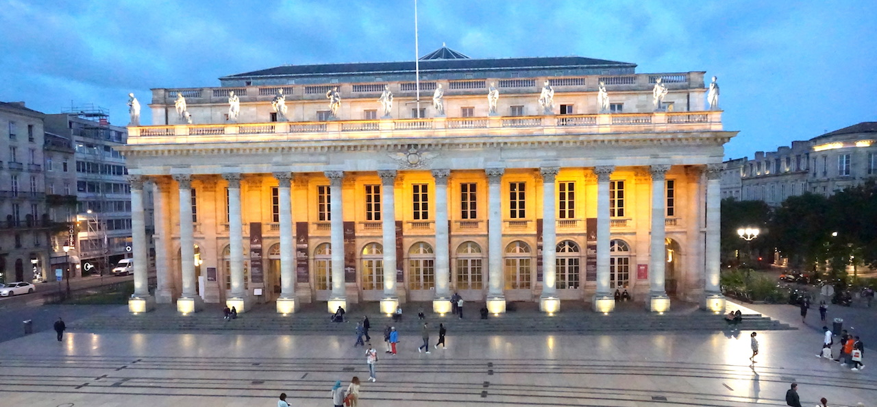 View of the Grande Theatre from a suite at the InterContinental Bordeaux - Le Grand Hotel.