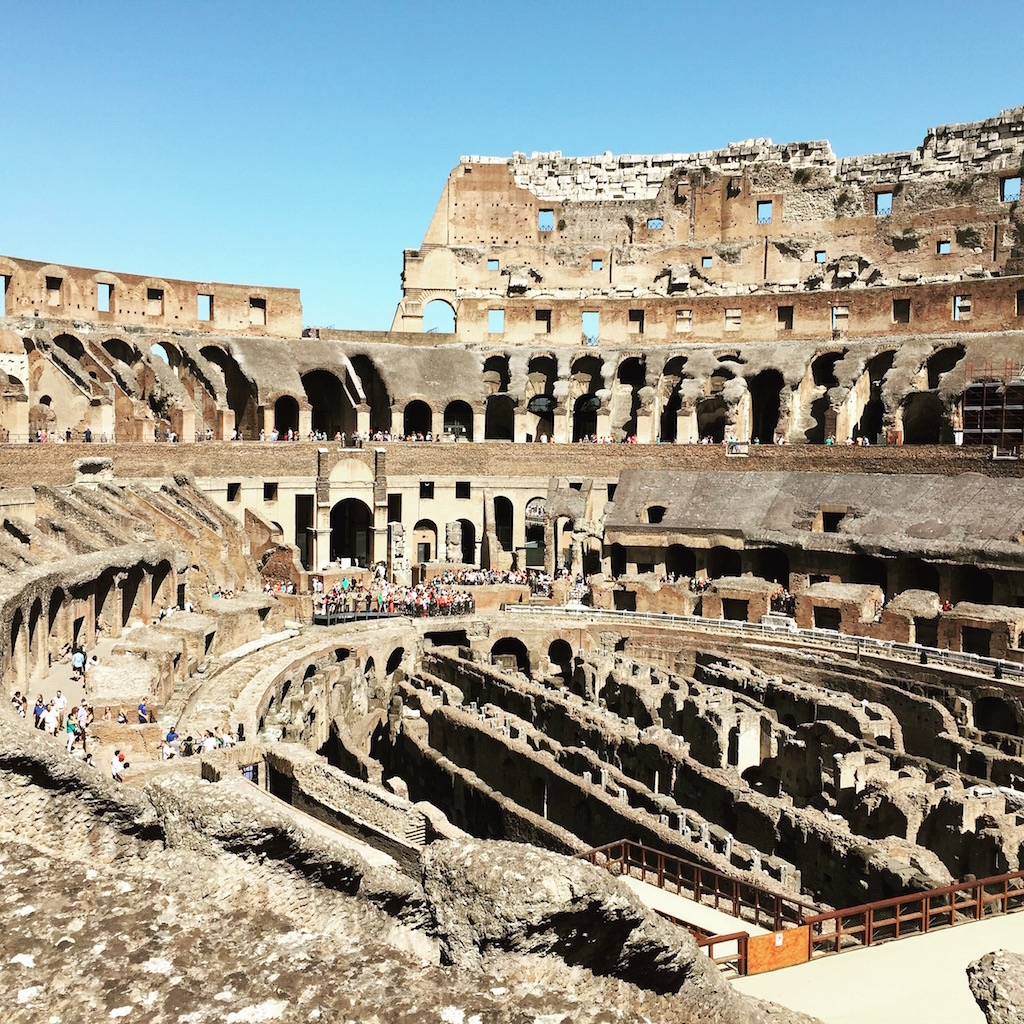 Roman ancient ruins - The Colosseum.